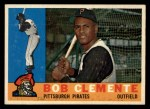 1960 Topps #326   Roberto Clemente Front Thumbnail