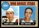 1968 Topps #247 COR Reds Rookies   -  Johnny Bench / Ron Tompkins Front Thumbnail