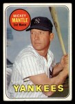 1969 Topps #500 YN  Mickey Mantle Front Thumbnail