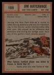 1962 Topps #109  Jim Katcavage  Back Thumbnail