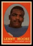 1958 Topps #10  Lenny Moore  Front Thumbnail