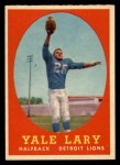 1958 Topps #18  Yale Lary  Front Thumbnail