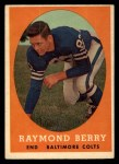 1958 Topps #120   Raymond Berry Front Thumbnail