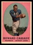 1958 Topps #7   Howard Cassady Front Thumbnail