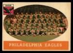1958 Topps #109  Eagles Team  Front Thumbnail