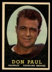 1958 Topps #91  Don Paul  Front Thumbnail