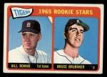 1965 Topps #493  Tigers Rookies  -  Bill Roman / Bruce Brubaker Front Thumbnail