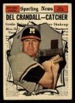 1961 Topps #583  All-Star  -  Del Crandall Front Thumbnail