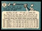 1965 Topps #534   John Hernstein Back Thumbnail