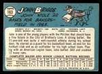 1965 Topps #163  Johnny Briggs  Back Thumbnail