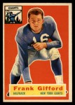 1956 Topps #53   Frank Gifford Front Thumbnail