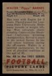 1951 Bowman #48   Walter Barnes Back Thumbnail