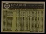 1961 Topps #455   Early Wynn Back Thumbnail