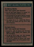 1975 Topps #195  1957 MVPs  -  Mickey Mantle / Hank Aaron Back Thumbnail