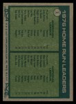 1977 Topps #2  HR Leaders    -  Graig Nettles / Mike Schmidt Back Thumbnail