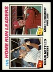 1977 Topps #2  HR Leaders    -  Graig Nettles / Mike Schmidt Front Thumbnail