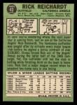 1967 Topps #40 ERR  Rick Reichardt Back Thumbnail
