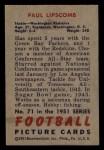 1951 Bowman #71  Paul Lipscomb  Back Thumbnail