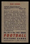 1951 Bowman #74   Dub Jones Back Thumbnail