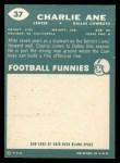 1960 Topps #37  Charlie Ane  Back Thumbnail