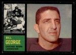 1962 Topps #22   Bill George Front Thumbnail