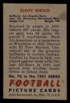 1951 Bowman #76  Elroy Hirsch  Back Thumbnail