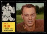 1962 Topps #50  Milt Plum  Front Thumbnail
