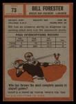 1962 Topps #73  Bill Forester  Back Thumbnail