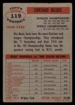 1956 Topps #119  Bears Team  Back Thumbnail