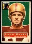 1956 Topps #25  Leon Heath  Front Thumbnail