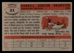 1956 Topps #21  Darrell Brewster  Back Thumbnail