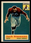 1956 Topps #82  Jack Simmons  Front Thumbnail