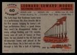 1956 Topps #60   Lenny Moore Back Thumbnail