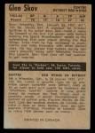 1954 Parkhurst #40  Glen Skov  Back Thumbnail
