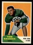 1960 Fleer #64  Tom Saidock  Front Thumbnail