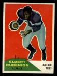 1960 Fleer #17   Elbert Dubenion Front Thumbnail