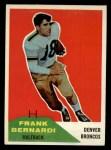 1960 Fleer #54   Frank Bernardi Front Thumbnail
