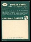 1960 Topps #56  Forrest Gregg  Back Thumbnail