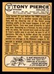 1968 #38  Tony Pierce  Back Thumbnail
