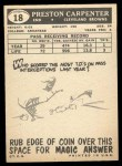 1959 Topps #18   Preston Carpenter Back Thumbnail