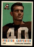 1959 Topps #18   Preston Carpenter Front Thumbnail