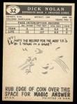 1959 Topps #32   Dick Nolan Back Thumbnail
