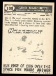 1959 Topps #109  Gino Marchetti  Back Thumbnail