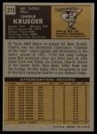 1971 Topps #213   Charlie Krueger Back Thumbnail