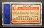 1953 Bowman #117   Duke Snider Back Thumbnail