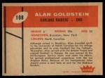 1960 Fleer #108   Alan Goldstein Back Thumbnail