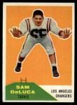 1960 Fleer #89  Sam DeLuca  Front Thumbnail