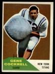 1960 Fleer #56  Gene Cockrell  Front Thumbnail