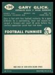 1960 Topps #130   Gary Glick Back Thumbnail