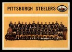 1960 Topps #102  Steelers Team Checklist  Front Thumbnail